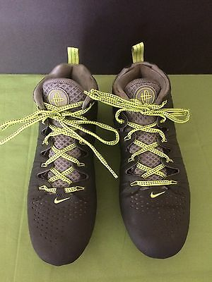 Nike 4 Huarache Men's Lacrosse Black Volt Cleats Size 8.5