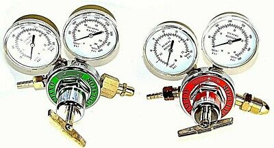 Acetylene Oxygen Gas Welding Regulator Pressure Gauge Fit Victor Solid Brass set