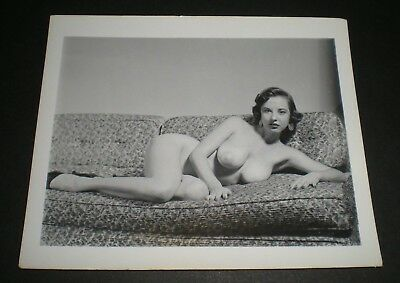 MARGE MELLOR - WoW! - Vintage 4x5 Photo - Original/PinUp/Girl/Nude/Model/1950