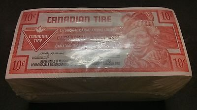 """""""UNC Unopened"""" 2004 One Brick 500 Canadian Tire Money 10 Cents """"0259799500"""""""