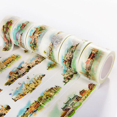 Tour Souvenirs Paper Washi Tapes Local Characteristic Feature Stickers Labels