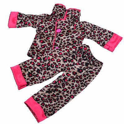 PJS Pajamas Sleepwear for American Girl Our Generation 18 inch Doll Clothes Toy