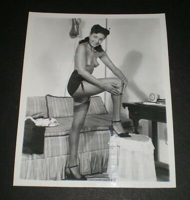 SEXY AFRICAN AMERICAN MODEL - Vintage 4x5 Photo - Original/PinUp/Girl/Nude/Black