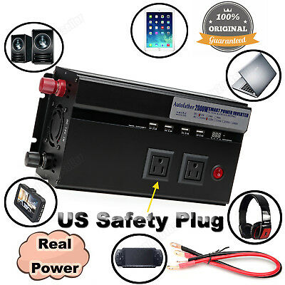 2000W/4000W Peak Car Power Inverter DC 12V To AC 110V High Converting Efficiency