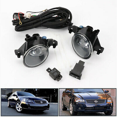 Pair w/Switch Clear Front Bumper Fog Lights Lamp for Nissan Altima JDM 2005-2006