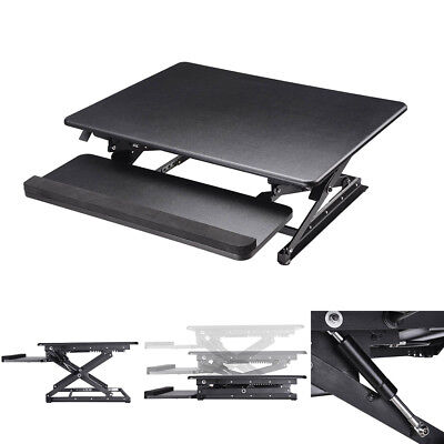 80cm Wide Desk Riser Height Adjustable Standing Sit & Stand Up Computer Desktop