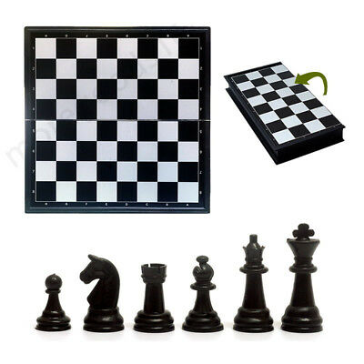 32 Pieces Travel Magnetic Chess Set Mini Portable Folding Chess Board For kids w