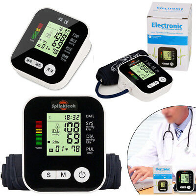 Automatic Arm Blood Pressure Cuff Monitor Gauge Machine Tester Meter Adapter