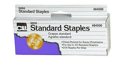 Staples Standard 26/6 Size, Chisel Pointed Carbon Steel, 5000/Box, Silver