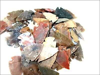 Jet Arrowheads Pack of 50 Mix Approx. 0.75 inch - 1.25 inch Agate Stone New Age