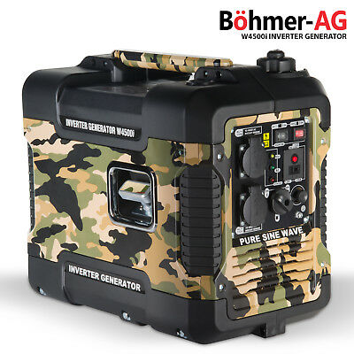 Camo Inverter Generator W4500i 2.0 KW, Low Noise Petrol, camp backup INTRO PRICE