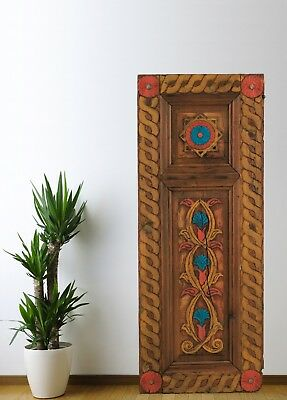Antique Cabinet Door Carved,Vintage Wood Panel Decorative Handmade (51'')