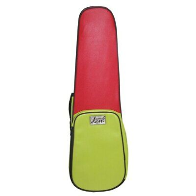 Funky Leather - Shaped Violin Case 3/4 Size - Red & Green
