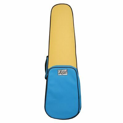 Funky Leather - Shaped Violin Case 3/4 Size -Blue & Yellow