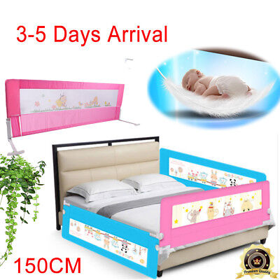 Pink Folding Child Kids Toddler Bed Rail Safety Protection Sleep Guard 150/180cm
