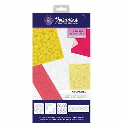 Crafter's Companion Threaders Quilting Template Stencil - Geometric