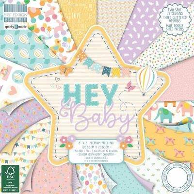 Premium Craft Cardstock First Edition 8x8 Designer Paper Pad - Hey Baby
