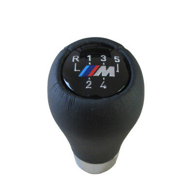 5 speed real Leather Gear Shift Knob Metal Ring for BMW 5 7 series M E36 E46 E34