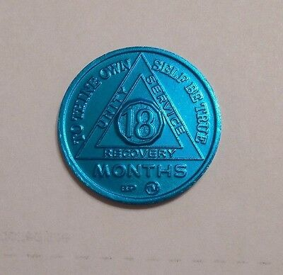 18 month aluminum aa alcoholics anonymous chip coin token medallion new