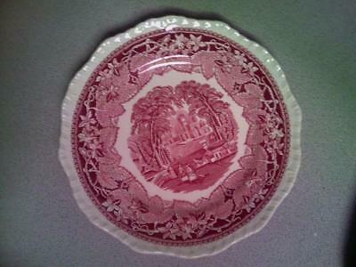 "Vintage Mason's England Vista Pink / Red Pattern 8 7/8"" Plate Quantity!!"