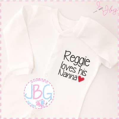 Personalised Baby Unisex Sleepsuit, Embroidered Baby clothes Rompersuit Clothing