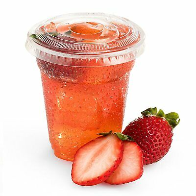 Green Direct 8 oz. Disposable Plastic Clear Cups With Flat Lids for Cold Drink /
