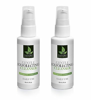 Sodium Lauryl Sulfate - GENTLE EXFOLIATING CLEANSER COMPLEX 60ml/2fl - 2 Bottles