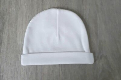 Baby White 0-3 Months Hat Cotton Girl Boy Premature Tiny