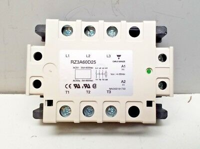 NEW CARLO GAVAZZI RZ3A60D25 25A 600Vac SOLID STATE RELAY