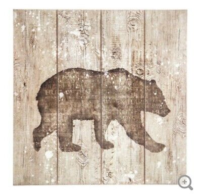 Wood Bear Welcome Saw Blade Cabin Decor Wall Art Silhouette