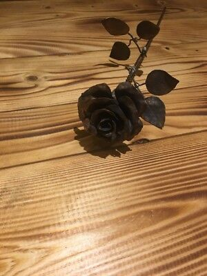 Wrought Iron Rose Flower Hand Made  Vintage Style