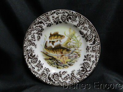 "Spode Woodland North American Fish Walleye, England: Salad Plate 7 3/4"" NEW, Box"
