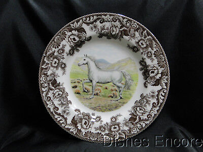 "Spode Woodland Arabian Horse, England: Dinner Plate, 10 3/4"", NEW w/ Orig Box"
