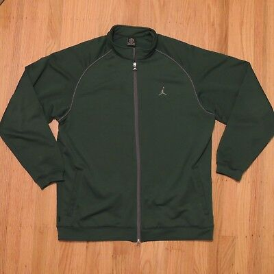 c1e373bb9c7c Nike Air Jordan 20 Year Track Jacket Mens Green Full Zip Sweatshirt Size XL