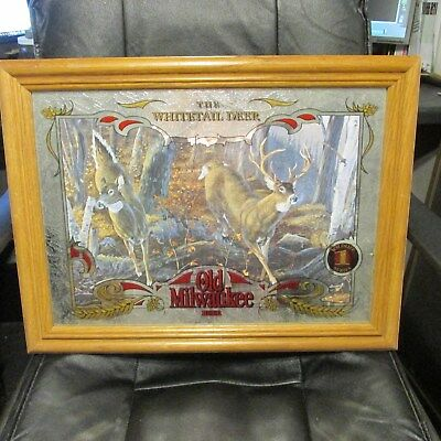 OLD MILWAUKEE Beer Mirror sign - The WHITETAIL DEER Wildlife No. 1 Series