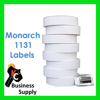 Price Gun Labels for Monarch 1131 White 8 rolls Ink Included Made USA