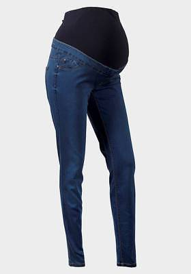 Maternity New Look Over The Bump Jeggings Jeans Dark Blue Sizes 8 - 20 Ref B1