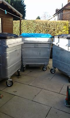 1100 ltr Metal Wheelie Bins