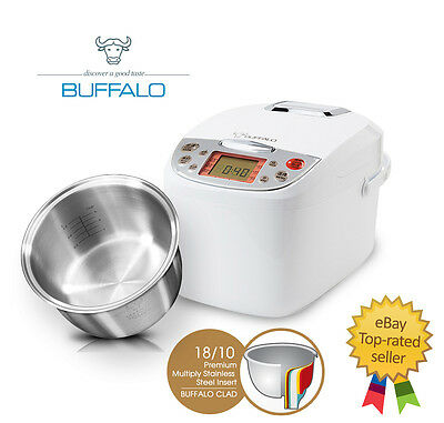 Buffalo Multiply Stainless Steel Smart Cooker - 10 cups