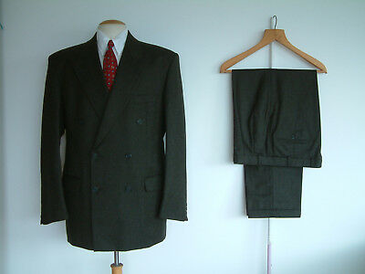 """1940's STYLE SUIT..GOODWOOD..TWIN PLEATS..PTU's..HIGH WAISTED..42""""x 36""""..FLANNEL"""