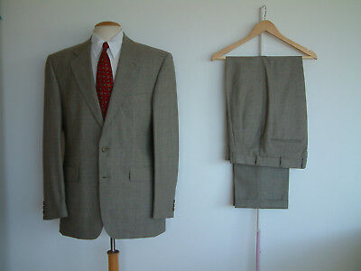 """1940's STYLE SUIT..GOODWOOD..TWIN PLEATS..PTU's..40""""x 34""""..PRINCE OF WALES CHECK"""