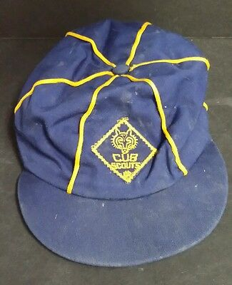 BSA Boy Scouts of America Cub Scouts Uniform Hat Cap size 6 3/4 Vintage