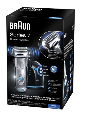 NEW BRAUN Pulsonic 790CC-4 Mens Rechargeable/Washable Shaver Series 7
