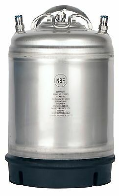 2.5 Gallon Ball Lock Keg New w/Relief Valve  Homebrew Draft Beer - Free Shipping