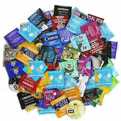 Condoms Bulk Sampler Mix - Trojan, Durex, Atlas, One, Lifestyles, Crown, & More