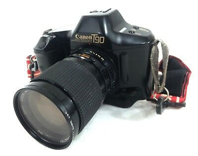 Canon T90 with Canon with Sakar 28-80mm f/3.5-4.5 Lens WORKING CONDITION #A22