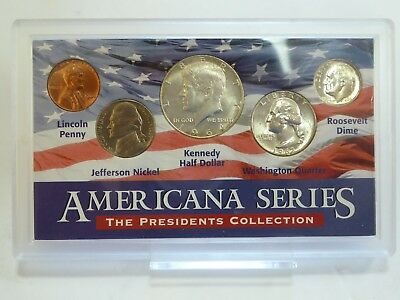 Americana Series Collection Silver Kennedy Half Dollar,Quarter, Dime Coin Set(4)