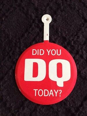 Vintage Dairy Queen Advertising Fold Tab Pinback Pin Button