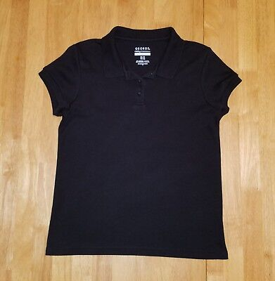 Guc--Girls George Black Uniform Polo Shirt--Size L 10/12