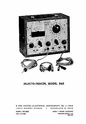 Hickok 860 Injecto Tracer Operation Manual